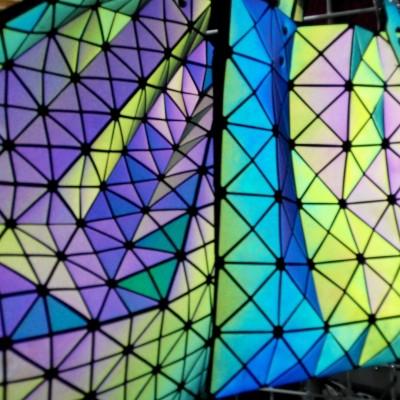 Sac à main lumineux aux motifs géométriques multi-couleur
